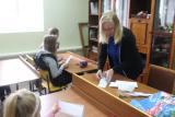 Урок славянской письменности в Приходской воскресной школе