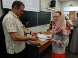 Вручение удостоверений о прохождении курсов повышения квалификации