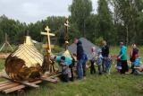 Освящение крестов и куполов