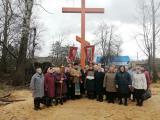 Освящение поклонного Креста в деревне Медведево