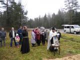 Освящение поклонных крестов